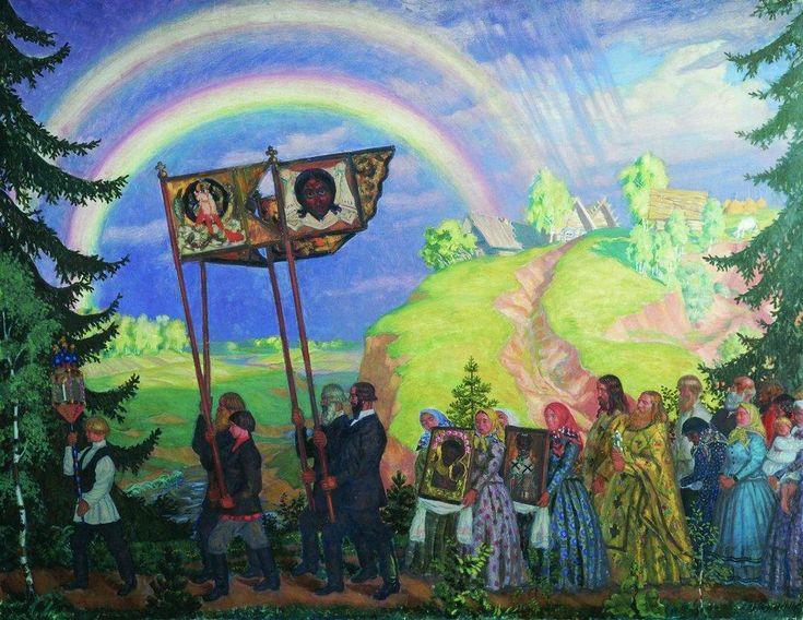 Easter Procession  - Boris Kustodiev, 1915.