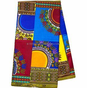 Dashiki fabric machine patchwork / African dashiki/ Super quality Dashiki / Dashiki Shirt/ African Fabric/ 6yards DS74 by TessWorldDesigns on Etsy