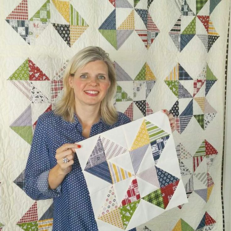 Starcakes - Free Pattern and tutorial at Fat Quarter Shop Kimberly & FQS team on This quilt uses  layercakes