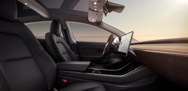 Minimalist Interior - Tesla Model 3.