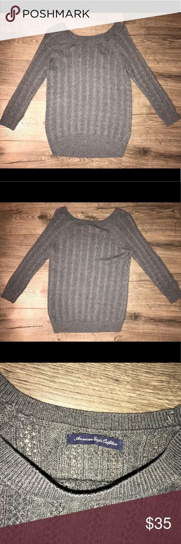 American Eagle Sweater 3/4 sleeves. Great Condition. American Eagle Outfitters Tops Sweatshirts & Hoodies #americaneagleoutfitters