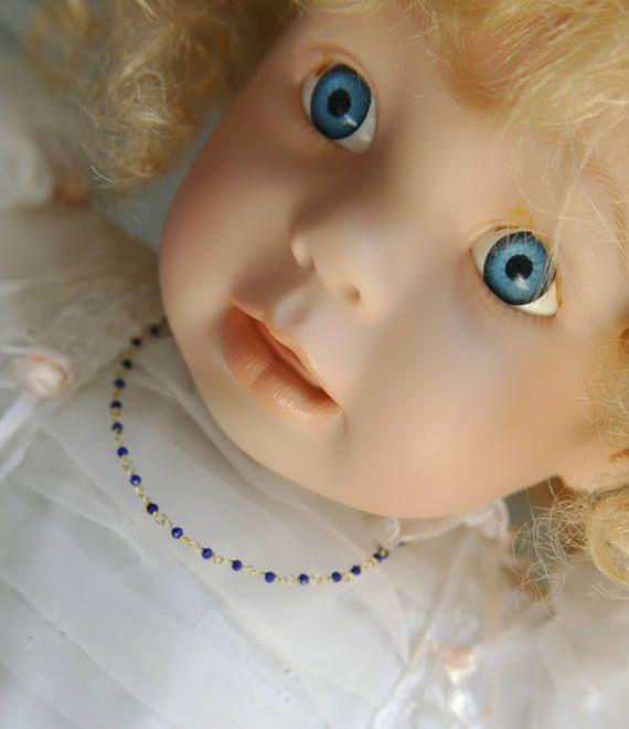 8 Karat Gelbgold 333Gold Feine Halskette Baby Tiny Taufe