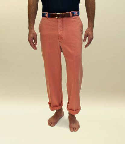 Nantucket Reds change color with age, salt, and sun. Women's new canvas Nantucket Reds behind; slightly seasoned Women's poplin Nantucket Reds in front.
