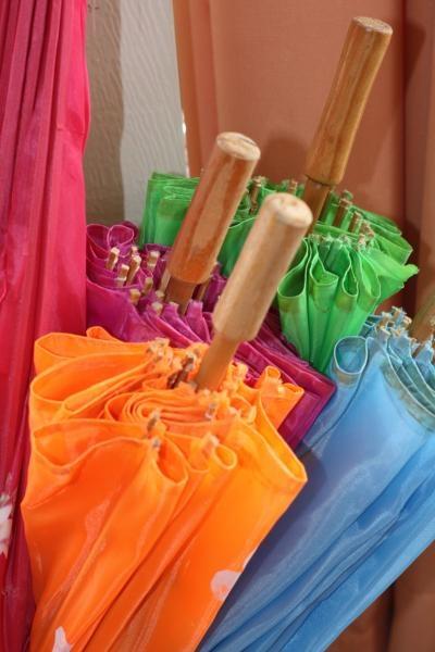 Summer-y colored umbrellas on ediTorial