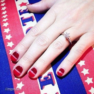 47 best cutout nail designs images on pinterest make up blue different red cut out nail design prinsesfo Gallery