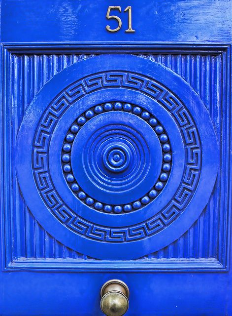 Azure blue door, Squaring The Circle by Steve Richards (Badger) on Flickr
