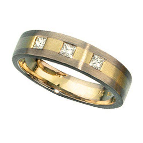 JOBO Damen-Ring 585 Gold Weißgold Gelbgold matt 3 Diamanten Prinzess-Schliff Größe 54 Jobo http://www.amazon.de/dp/B00E8CZY52/?m=AMWB9IWQTFGZU