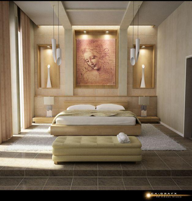 Elegant Bedroom Wall Designs