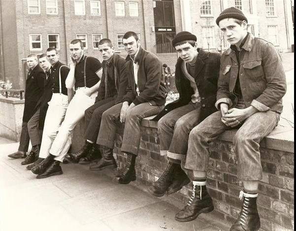 Il football è sempre stato lo sport della working class #skinheads #boots #braces #crombiecoat Dr. Martens