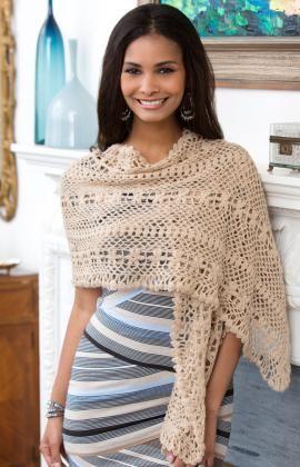 Leichter Ajourmuster Schal.  Gehäkelt in feiner Wolle oder Socken Wolle sieht dieser Schal einfach super aus.