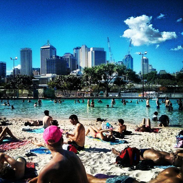 Southbank beach Brisbane - Australie Australia - http://breakinggood.fr/