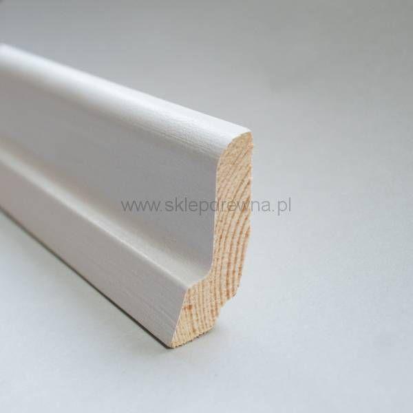 Biała listwa przypodłogowa 2,5 x 6cm Sklep Drewna