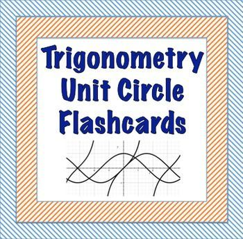 A complete set of flashcards for the unit circle.  16 cards testing the…