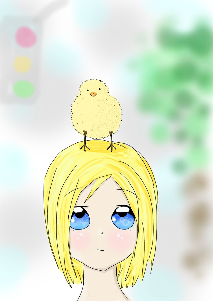 Yeah.,,,She does have a chick on her head. By Morgan Mayhew  Dedicated to my Auntie Ann, for Christmas!