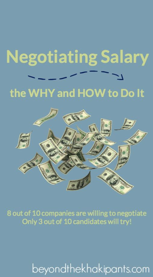 High Quality Negotiating Salary: The WHY And HOW To Do It | Www.beyondthekhakipants.co ·  Looking For A JobCareer ...