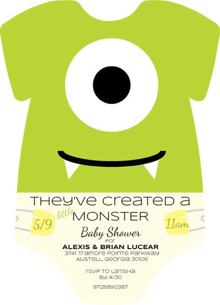 Best 25+ Monster baby showers ideas on Pinterest