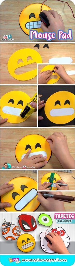 #tapetes #mouse #mousepad #emoji #facil #craft #ideas #diy #gomaeva #foami