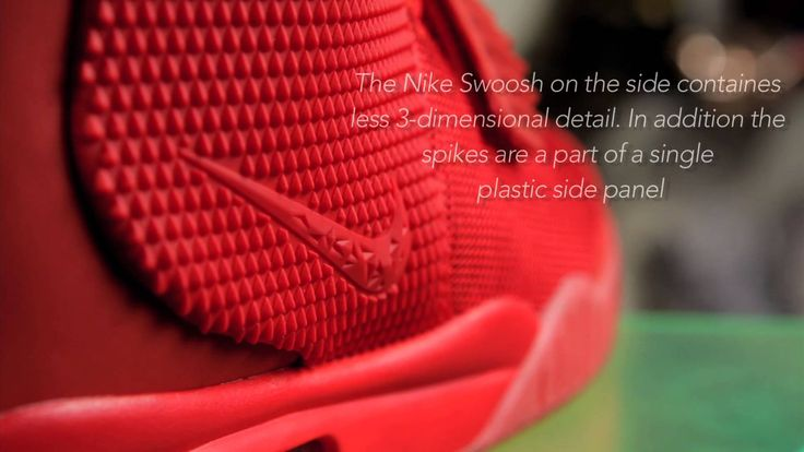 """Rare Pair: Air Yeezy 2 """"Red October"""" Fake vs. Real Comparison"""