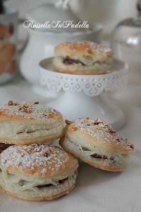Tortelli dolci alla nutella, puff pastry and nutella