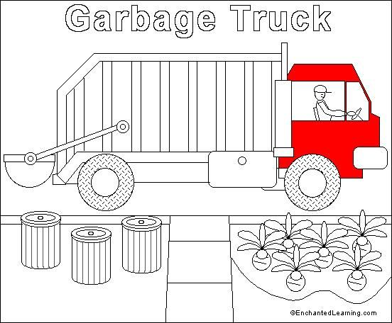 Garbage Truck Online Coloring Page Paint On The Computer