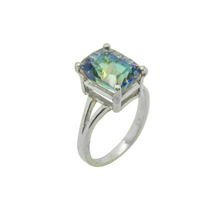 Magic Blue Quartz Sterling Silver Ring by ElizabethEverettJ on Etsy