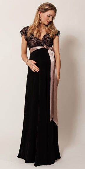 Rosa Maternity Gown Long (Vintage Blush) by Tiffany Rose