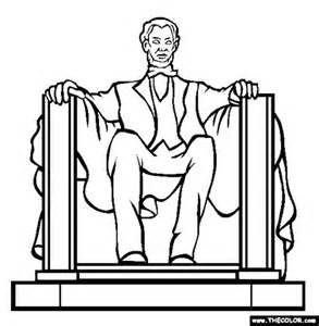 lincoln coloring page bing images