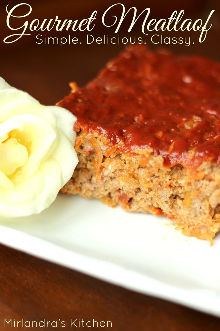 I'm on a crusade to bring meatloaf back!  This Gourmet Meatloaf lives up to its name with every tender, juicy bite.  It is easy to prepare and bursting with flavor. Try my simple trick to keep it moist.  Kid friendly.
