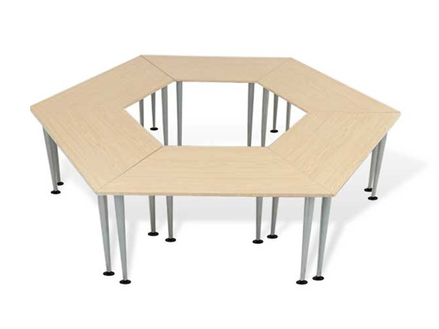 Office furniture bently trapezoid table dream office for Trapezoid table
