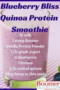 Blueberry Bliss Quinoa Protein Smoothie Boomer Nutrition