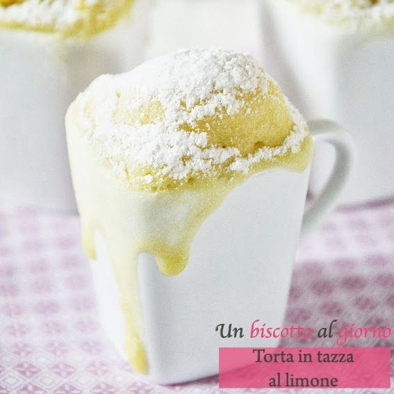 Torta in tazza al limone - cottura al microonde