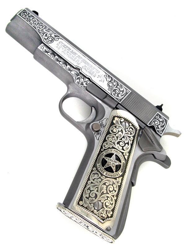 Colt 1911 Mark IV/ Series 70 Texas Ranger Edition https://www.pinterest.com/pin/244953667208912762/