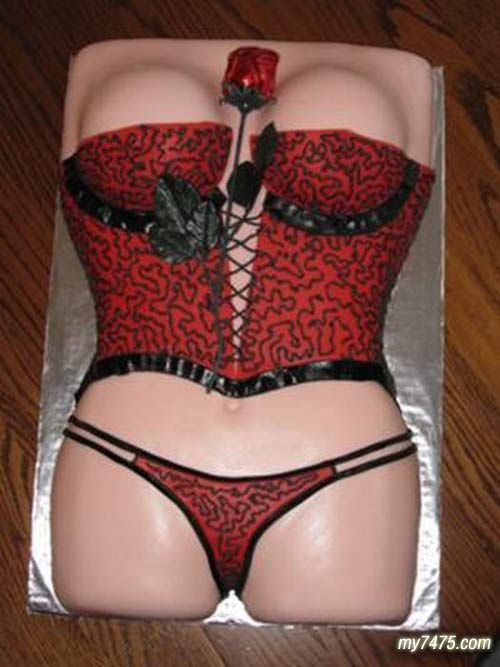how to make a corset shaped cake