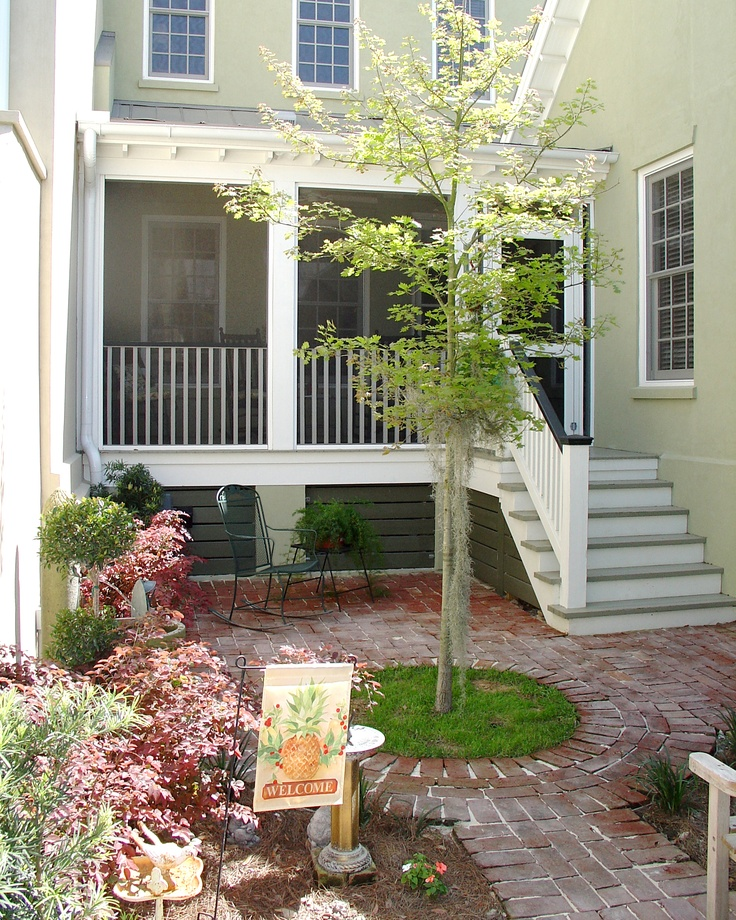 Rear Entrances To The Habersham Townhome Courtyards Are