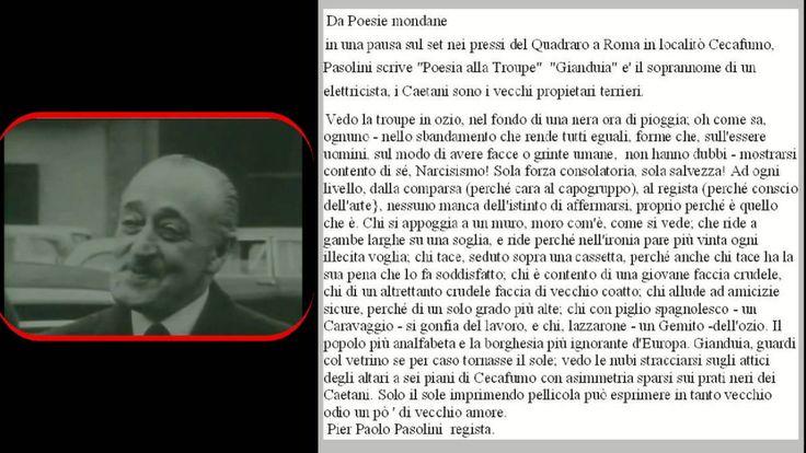 Poesia alla Troupe di Pier Paolo Pasolini
