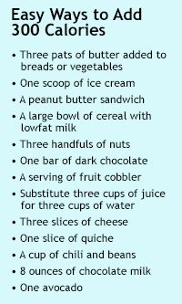 Trying to gain weight during pregnancy? Here are some easy ways to add 300 calories. CharlotteParent.com