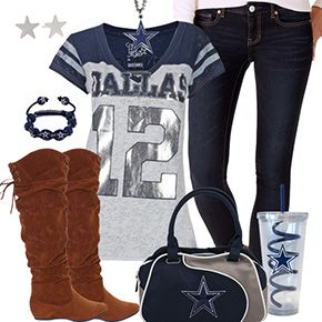 Cute Dallas Cowboys Fan Outfit
