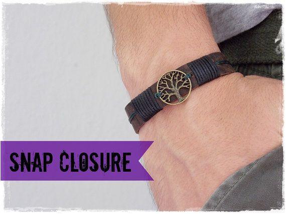 Leather Wristband, Tree Of Life Bracelet, Men's LeatherBracelet, Celtic Leather Bracelet, LARP Elven Bracelet, Nordic Viking Leather Cuff