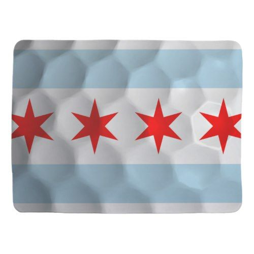 Flag of Chicago Golf Ball Receiving Blanket