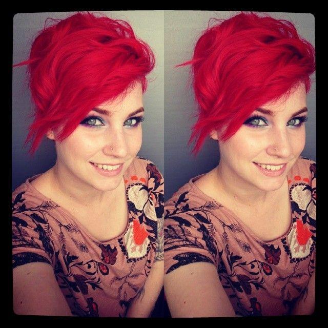 Mooi rood is niet lelijk! Pittige rode korte kapsels voor zelfstandige vrouwen