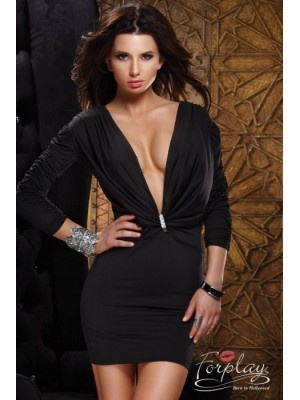 Robe courte noire forplay