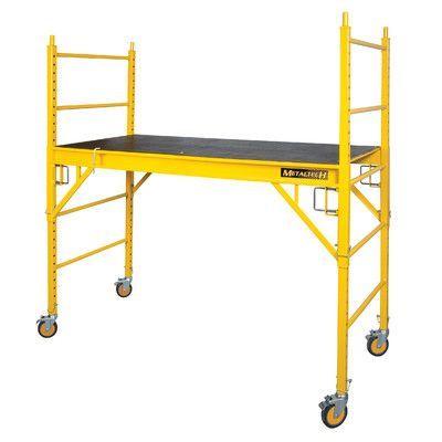 "MetalTech Jobsite Series 4.04' H x 70.08"" W x 33.48"" D Steel Perry Style Baker Scaffolding"