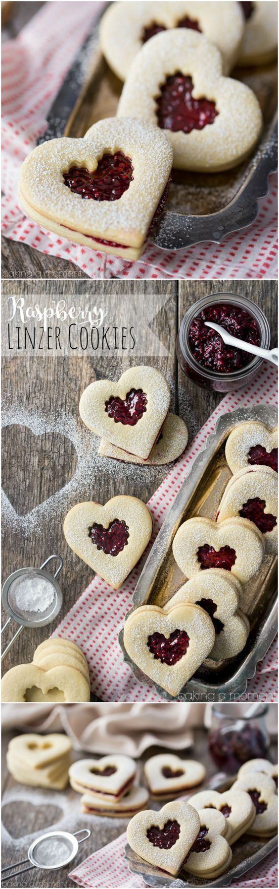 Raspberry Linzer cookies are the perfect addition to any tray of Christmas treats. #PANDORAloves