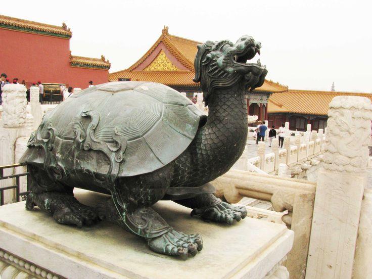 beijing - forbidden city - turtle dragon