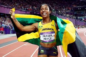 The Oh So Lovely  Shelly Ann Fraser- Pryce  The World's Fastest Woman      So proud to share her home land!  Jamaica! One Love!