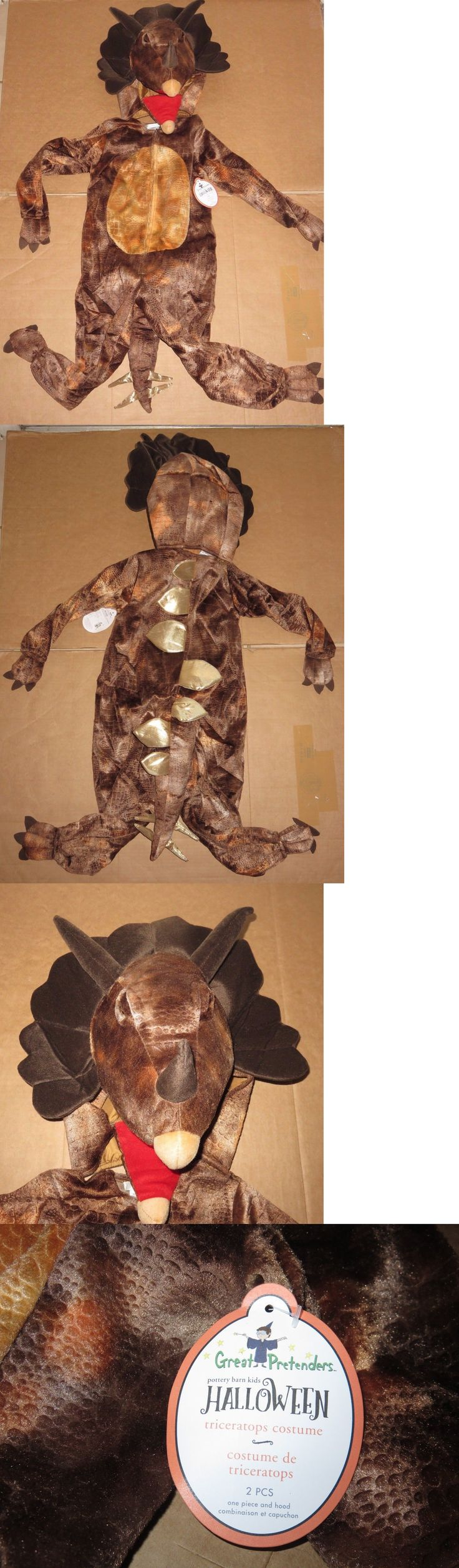 Halloween Costumes Kids: 2Pc Nwt Pottery Barn Kids Triceratops Dinosaur Halloween Costume, 4-6 Years, New BUY IT NOW ONLY: $84.5