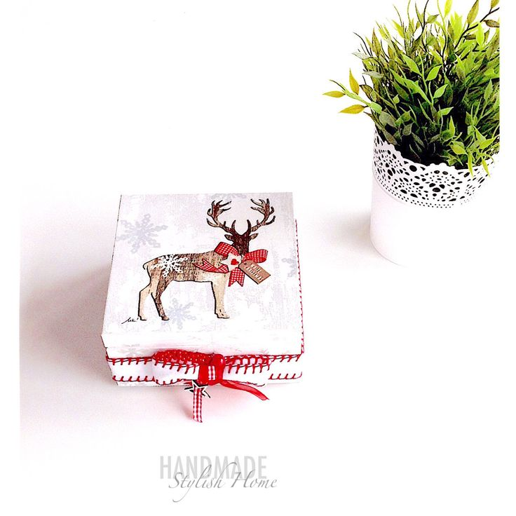 reindeer christmas tea box