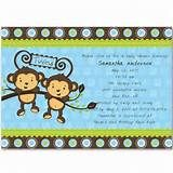 Baby Shower Monkey Theme For Twins