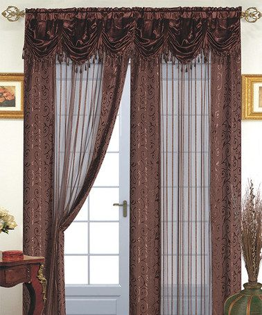 Look what I found on #zulily! Brown Tango Curtain Panel and Valance #zulilyfinds