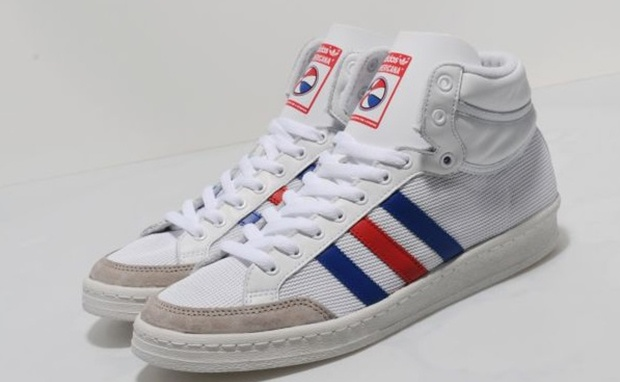 quality design 08527 b1afa adidas Originals Americana Hi 88 WhiteBlue  Sneakers  Pinterest  Adidas,  Adidas sneakers and Adidas originals
